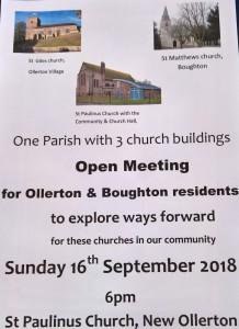 open consultation Sept 16th 2018